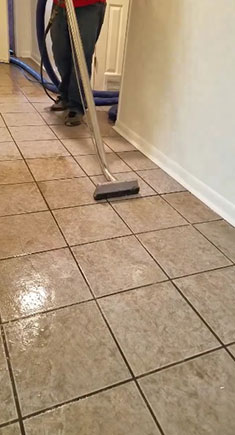 Jeff's Carpet Cleaning cleans tile and grout.