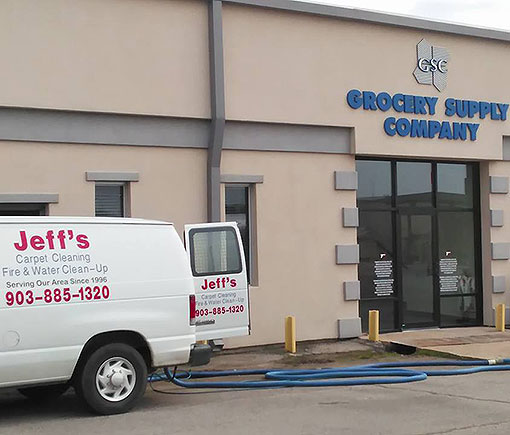 Jeff's Carpet Cleaning carpet, tile, grout, fire and water damage restoration. Greenville TX, Sulphur Springs TX, Commerce TX, Emory TX, Cooper TX, Mt. Vernon TX and surrounding areas.